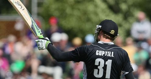 martin guptill 50 new zealand zimbabwe first odi dunedin