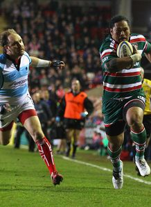 Alesana Tuilagi Andy Goode Leicester Worcester 2012 30 march