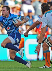 Francois Hougaard making a break for the Bulls