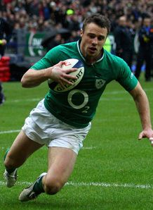 Ireland Tommy Bowe try paris 2012