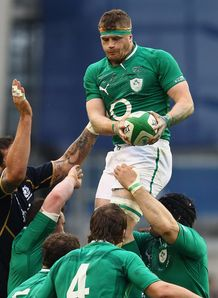 Jamie Heaslip Ireland v Scotland 2012