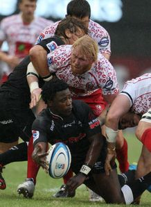 Lwazi Mvovo of the Sharks v Reds 2012