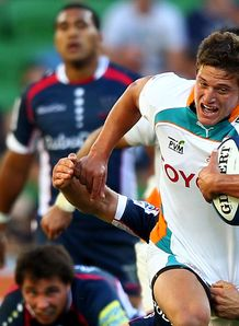 Piet van Zyl on a run for Cheetahs
