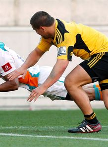 Rayno Benjamin scoring for Cheetahs in Wellington