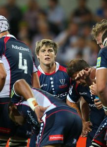 Rebels dejected against the Waratahs. James OConnor c