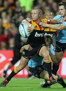 Robbie Robinson looking for the offload for Chiefs