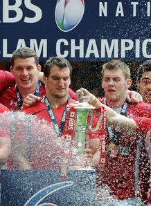 Wales celebrating 2012 RBS Six Nations Grand Slam