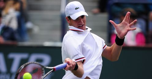 Lofty rise: Isner moved into the world's top 10 after his success at Indian Wells