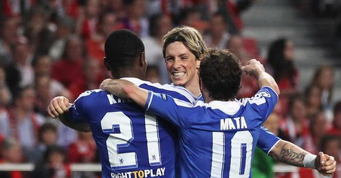 Tor of the same: Torres celebrates his goal against Benfica
