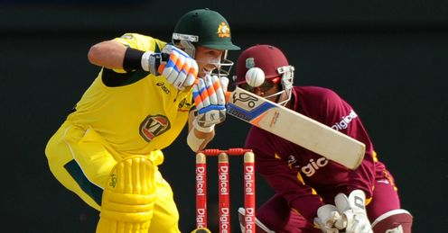 Mike Hussey first T20 international West Indies v Australia St Lucia