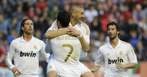 Benzema: playing well for Real