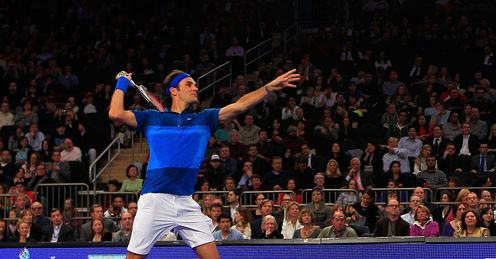 Full flight: by his own admission, Federer is feeling more confident than in 2011