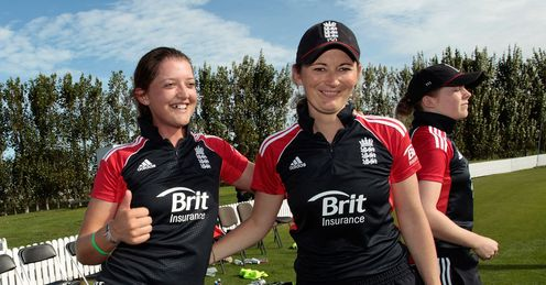 Signing off in style: Sarah and Charlotte posted superb centuries in Christchurch