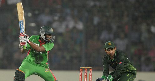 Shakib Al Hasan during Asia Cup final Bangladesh v Pakistan