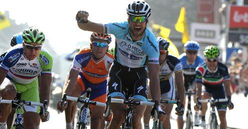Boonen winning the Ghent-Wevelgem