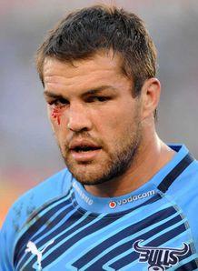 Flip van der Merwe Bulls bloody eye