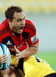 Israel Dagg of the Crusaders v Hurricanes