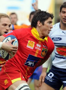Perpignan s fly half James Hook C 2012