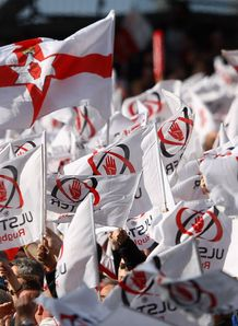Ulster fans fly their flags