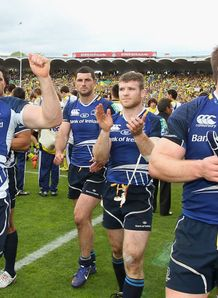 Leinster celebratin Heineken Cup semi-final win over Clermont