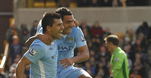 Sergio Aguero Wolves v Manchester City Premier League