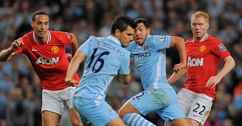 Carlos Tevez Sergio Aguero Manchester City United Premier League