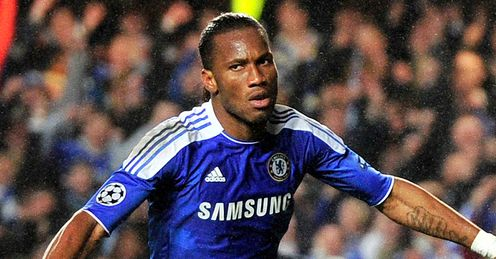 Drogba: got up off the floor to fire Chelsea ahead