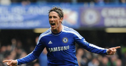 Chelsea v QPR Fernando Torres celeb his second