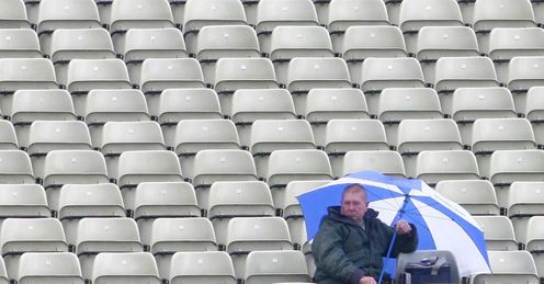 Edgbaston Warwickshire rain umbrella