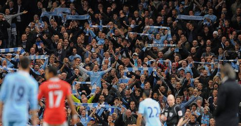 Fans Manchester City United Premier League