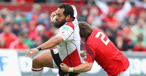 Afoa: should make a big impact for Ulster