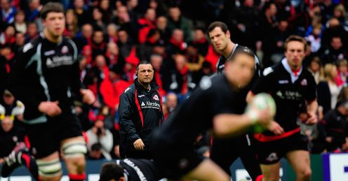 Eye on the final: Bradley looks on as Edinburgh strive to overcome Toulouse