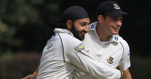 Monty Panesar and Michael Yardy