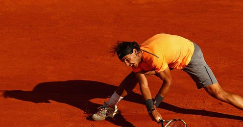Colour clash: 'The history of the clay court season was on red,' says Rafa