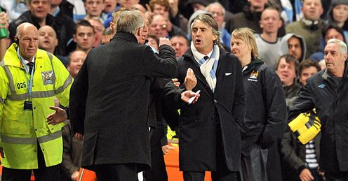 Sir Alex Ferguson Roberto Mancini Manchester City United Premier League PA