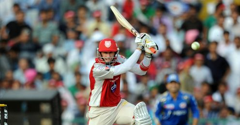 David Hussey Kings XI Punjab v Mumbai Indians PCA Stadium Mohali IPL Apr 2012