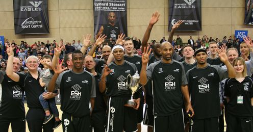 Newcastle Eagles celebrate their BBL title