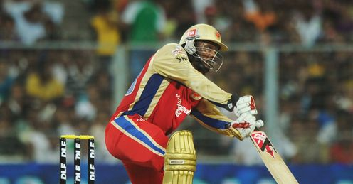 Chris Gayle Royal Challengers Bangalore v Kolkata Knight Riders IPL Eden Gardens Apr 2012