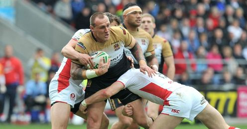Gareth Hock Wigan Warriors v St Helens Good Friday derby