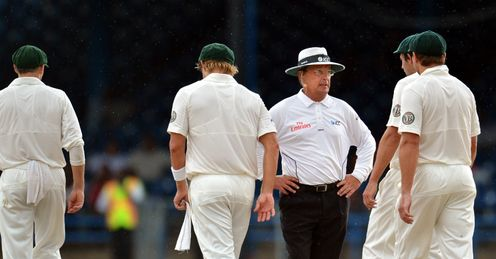 Umpire Ian Gould West Indies v Australia 2nd Test day 5 Queens Park Oval Port of Spain Trinidad