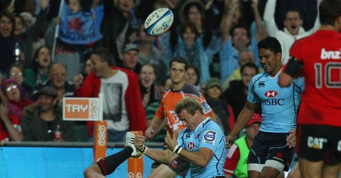 Sarel Pretorious Waratahs v Crusaders Super Rugby Allianz Stadium Apr 2012