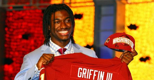 Quick off the mark: Griffin III impressed on his debut outing for Washington