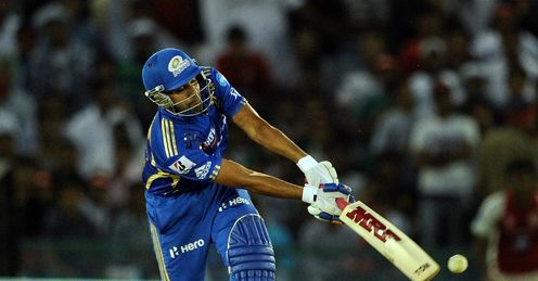 Rohit Sharma Mumbai Indians v Kings XI Punjab PCA Stadium Mohali IPL Apr 2012