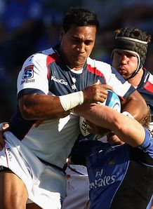 Cooper Vuna taking it on for Rebels
