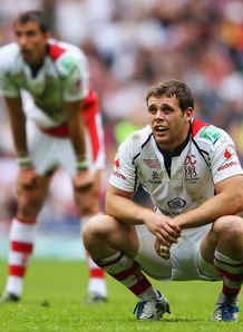 Darren Cave dejected Leinster vs Ulster Heineken Cup Final
