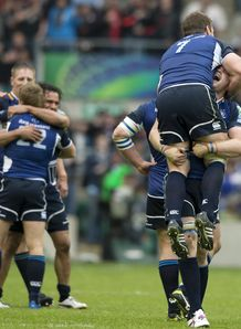 Leinster at the final whistle in Heineken Cup final