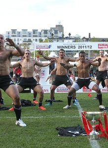 New Zealand Sevens haka in Glasgow