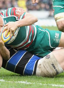 Anthony Allen Leicester Tigers scoring a try against Bath