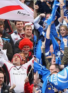 ulster v leinster flags