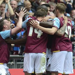 Hammers celebrate the win